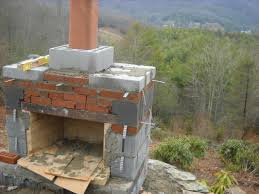 how to build an outdoor fireplace with cinder blocks home decor