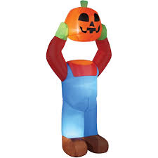 Inflatable Halloween Costumes 4 U0027 Headless Pumpkin Inflatable Halloween Decoration Indoor Outdoor