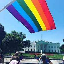Rainbow Us Flag Lgbt Activists March On Sunday For Rights In Washington Daily