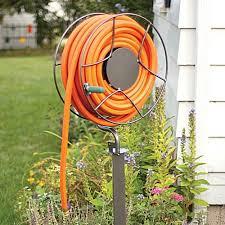 Hose Reel Solution For Yard And Garden Outdoor Faucet Extension Garden Hose Reels U0026 Hose Reel Carts Gardener U0027s Edge