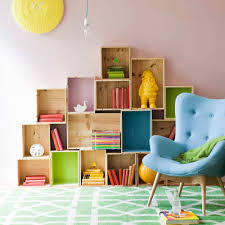 kids room storage shelves black sofa under bed sunny yellow wall