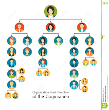 organizational chart template of the corporation business