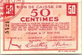 chambre de commerce colmar banknote 50 centimes colmar chambre de commerce série a