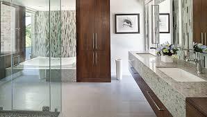 Glass Mosaics Contribute To Luxurious Master Bath Design - Bathroom tile designs 2012