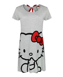 girls hello kitty cotton pyjama set dress playsuit pjs kids