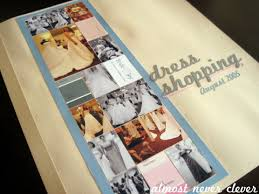 Wedding Scrapbook Page Scrapbook Layout Wedding Scrapbook Dress Shopping Layout Almost