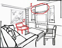 sketch room 3d sketches the living room 2 scribblelicious