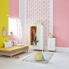 idee decoration chambre enfant inspiration idée déco chambre fille décoration miroir ananas mur