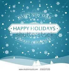 happy new year happy holidays merry stock vector 232227235