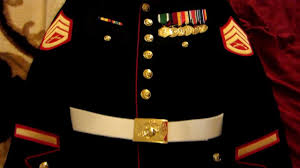 marine corps blues uniform youtube