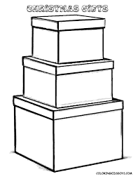 Christmas Coloring Pictures Christmas Day Free Christmas Box Coloring Pages