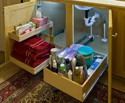 Bathroom Cabinet Organizer by Under Sink Shelf Image Mesh Expanding Under Sink Shelf Now