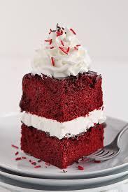 red velvet cake with peppermint whipped cream i am baker
