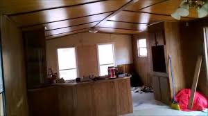 Single Wide Mobile Home Interior Design by How To Fix Up An Old Trailer Part 1 Youtube