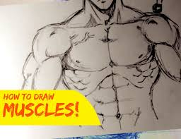 drawing male body muscles stylized front youtube