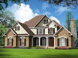 Two Story Home Designs Traditional House Plans Luxurious Two Story Traditional Home