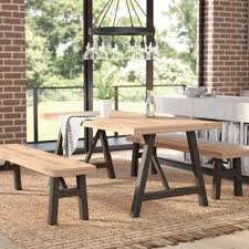 picnic table dining room bench kitchen dining room sets you ll love wayfair