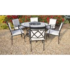 Firepit Set by Lg Outdoor Casablanca Round 6 Seat Dining Firepit Set U2013 Next Day
