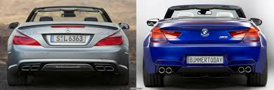 bmw amg series photo comparison bmw m6 convertible vs mercedes sl63 amg