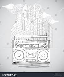 sketch boombox city stock vector 59460694 shutterstock