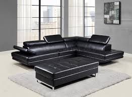 black sectional sofa bed u8138 sectional sofa black bonded leather by global w options
