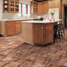 chic brick pattern vinyl flooring kitchens flooring idea benchmark