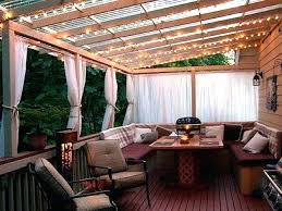 Pergola With Awning by Concrete Patio Lighting Ideas Exteriors Outdoor Wooden Deck With