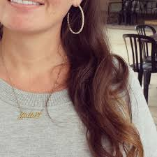 carrie name necklace carrie name necklace gold