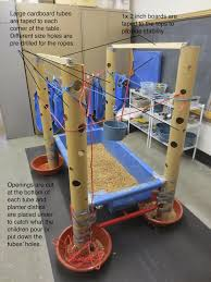 tall sand and water table sand and water tables tall cardboard tubes and ropes kids stuff
