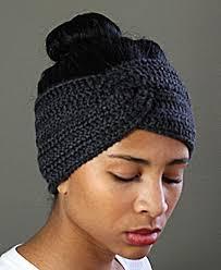 headband ear warmer twisted crocheted headband earwarmer inspiration crochet ideas
