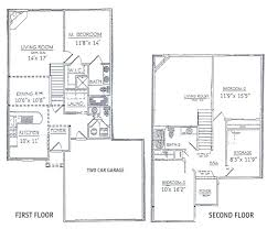 home design modern 2 story house floor plans compact craftsman m