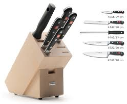 wusthof classic knife block set 6 piece 9832