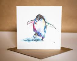 penguin card etsy