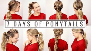 199 best hairstyles for images on pinterest hairstyles 7 days of ponytails youtube