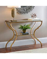 Glass Console Table Deal Alert Geometric Gold Glass Console Table