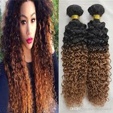 ombre hair weave african american wholesale hair weave ombre curly natural black hair with auburn