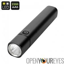 le torche cree cree led flashlight and powerbank 350 lumen 700k light 2200mah