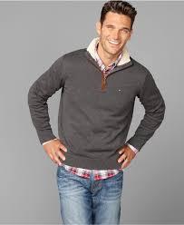 hilfiger sweater mens hilfiger sweater ken half zip mens sweaters macy s