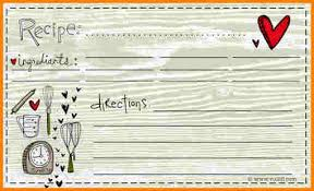 8 recipe card template for word ledger page