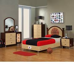 bedroom modern blue basketball theme boy bedroom decoration using