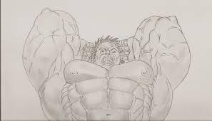 hulk smash in john lohnes u0027s sketches comic art gallery room
