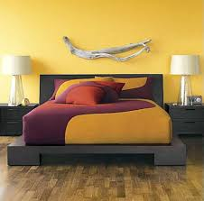 Crate And Barrel Platform Bed Brilliant Small Yellow Bedroom Designs With Wooden Flooring Plus
