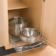 PullOut Shelf Lynk Chrome PullOut Cabinet Drawers The - Sliding kitchen cabinet shelves