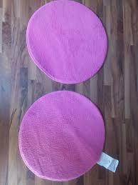 teppich rund rosa gebraucht 2 ikea teppiche rund
