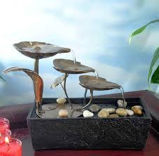 buy step metal leaves led table fountain importwala com