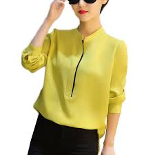 womens blouses for work 2017 fashion chiffon sleeves formal blouses