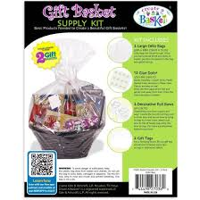 shrink wrap bags with pull bows create a basket essentials gift basket supply kit white walmart