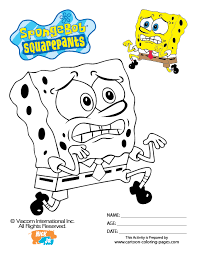 squarepants colouring pages