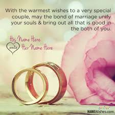 wedding wishes on wishes with quote and name editing
