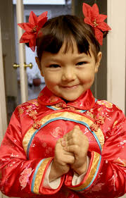 chinese child hair gongxi facai 2 side buns hairstyle look